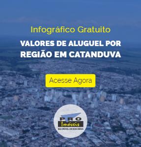 Infografico de Aluguel por Regiao em Catanduva